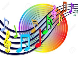 2478427-Colorful-notes-de-musique-illustration--Banque-d'images