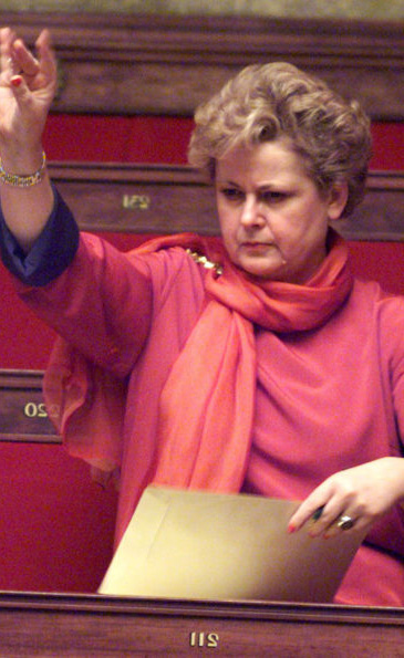Christine Boutin à l'Assemblée lors du débat du PACS